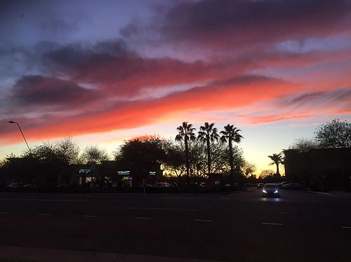 #kvpaz Beautiful skies at sunset in Mesa. Love these colors! #sunset #arizonasunset