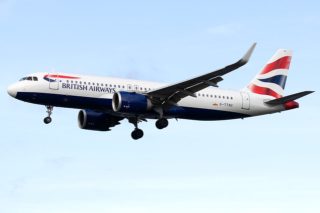 G-TTNC British Airways A320neo London Heathrow Airport