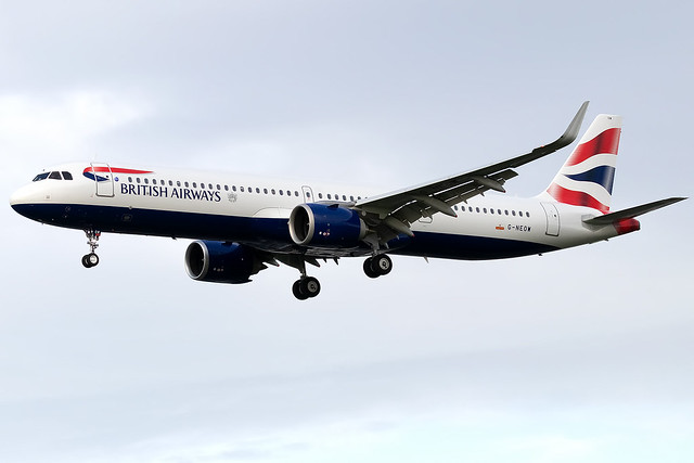G-NEOW British Airways A321neo London Heathrow Airport