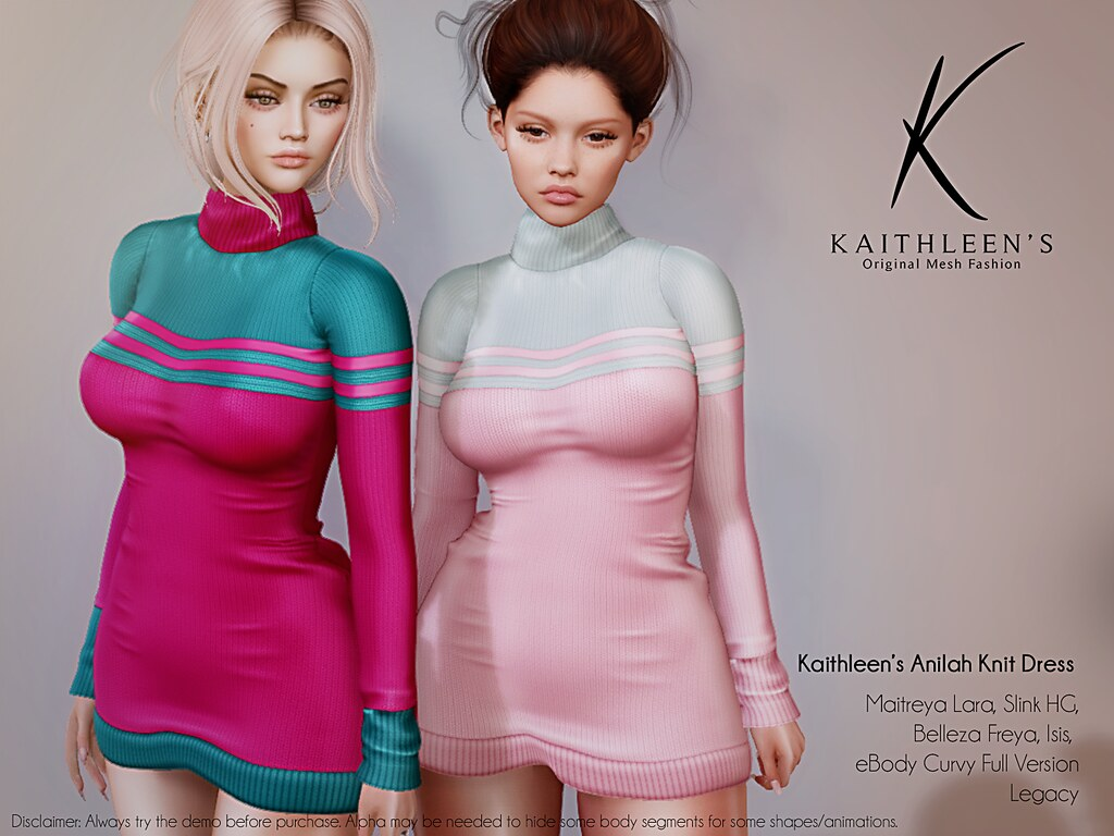 Kaithleen's Anilah Knit Dress Poster web
