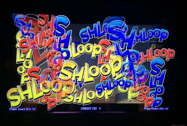 Shloop! Video game screen on the ferry from Naples to Palermo.