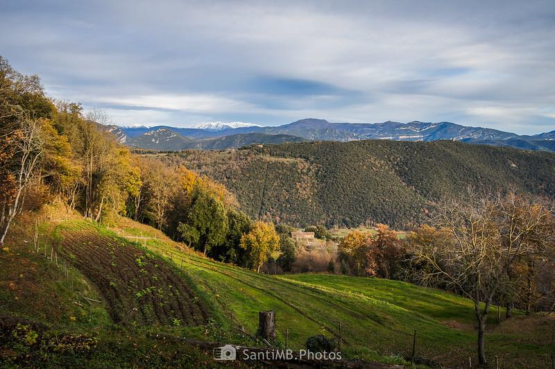 Vistas del Canigó y el Comanegra desde Cal Gall