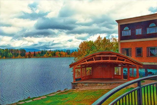 Lake Placid - New York - Paul White Memorial Shell - Historic