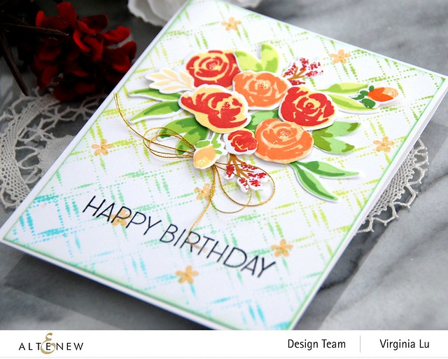 Altenew-DottedDiamonds-WatercolorBloomsStampDie-Virginia#4