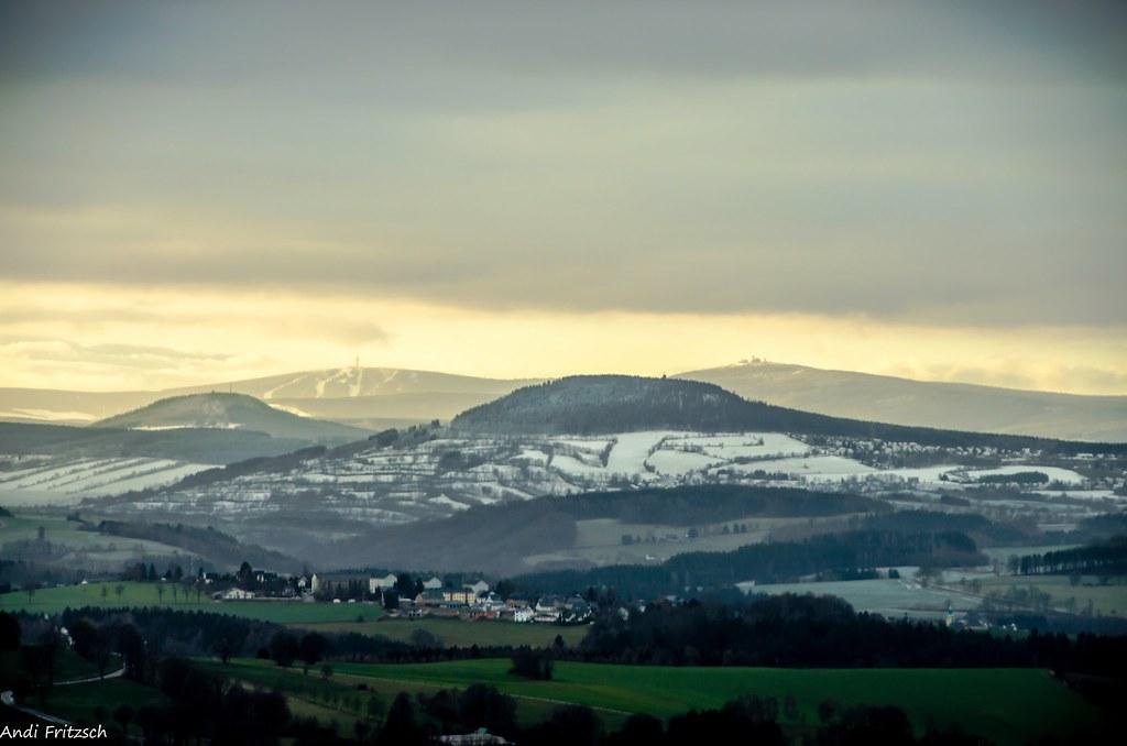 Die Berge des Erzgebirges