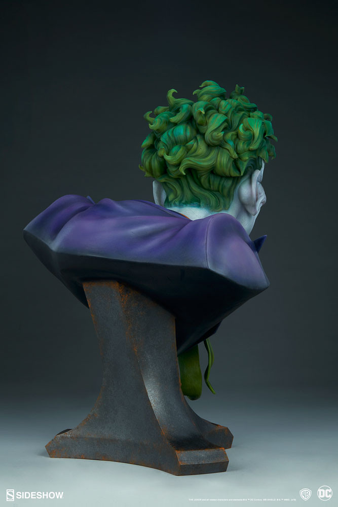 跟犯罪王子來張瘋狂的自拍吧! Sideshow Collectibles DC Comics【小丑】The Joker 1:1 比例胸像