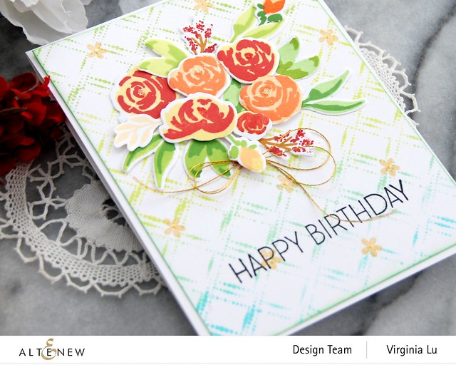 Altenew-DottedDiamonds-WatercolorBloomsStampDie-Virginia#3