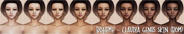 Boheme - Claudia Genus Skin (BOM)