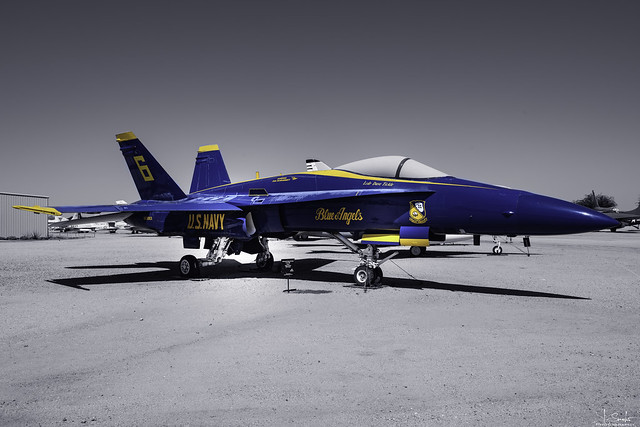 US Navy Blue Angels F-18 Hornet in Pima Air & Space Museum - Tuscon - Arizona - USA