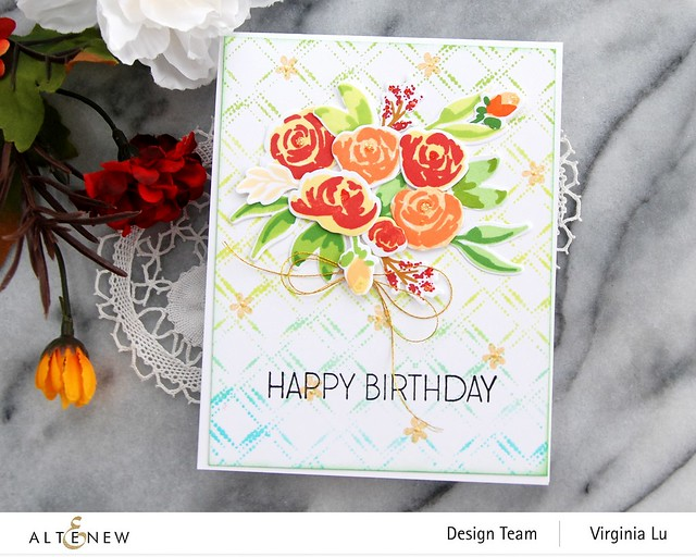 Altenew-DottedDiamonds-WatercolorBloomsStampDie-Virginia#5