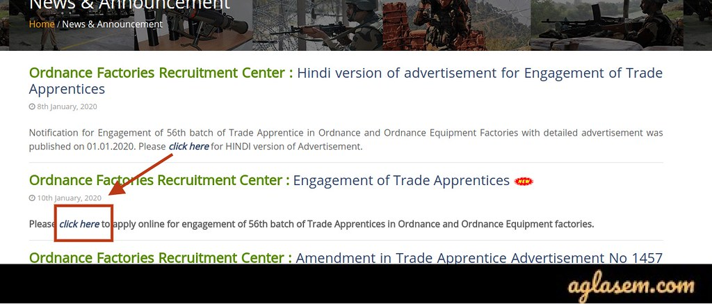 Steps of OFB Apprentice Recruitment 2020 Application Form