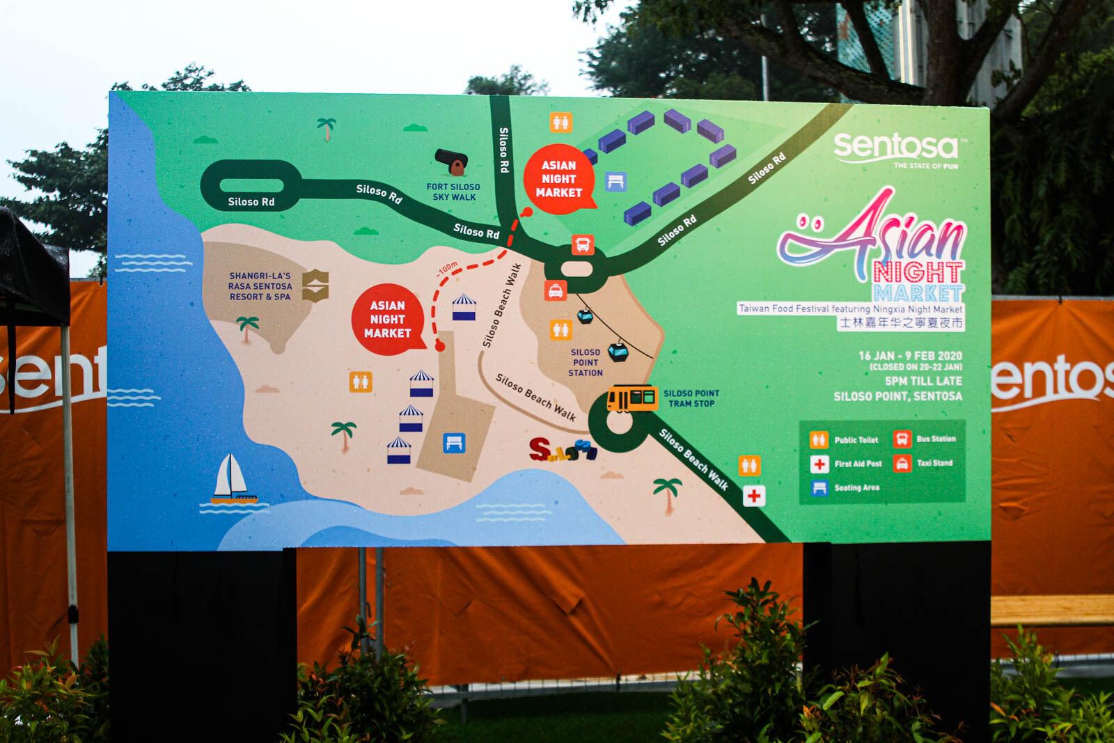 Asian Night Market Location Map