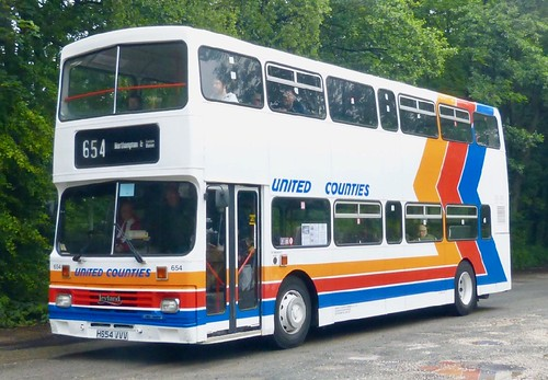 H654 VVV 'Stagecoach United Counties'  No. 654. Leyland Olympian / Alexander RL on Dennis Basford's railsroadsrunways.blogspot.co.uk'