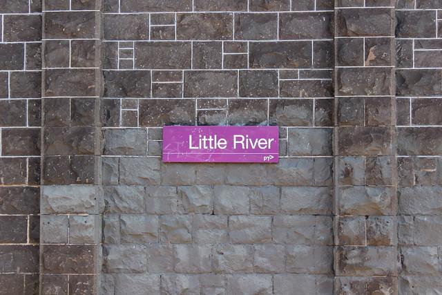 Little River platform signs