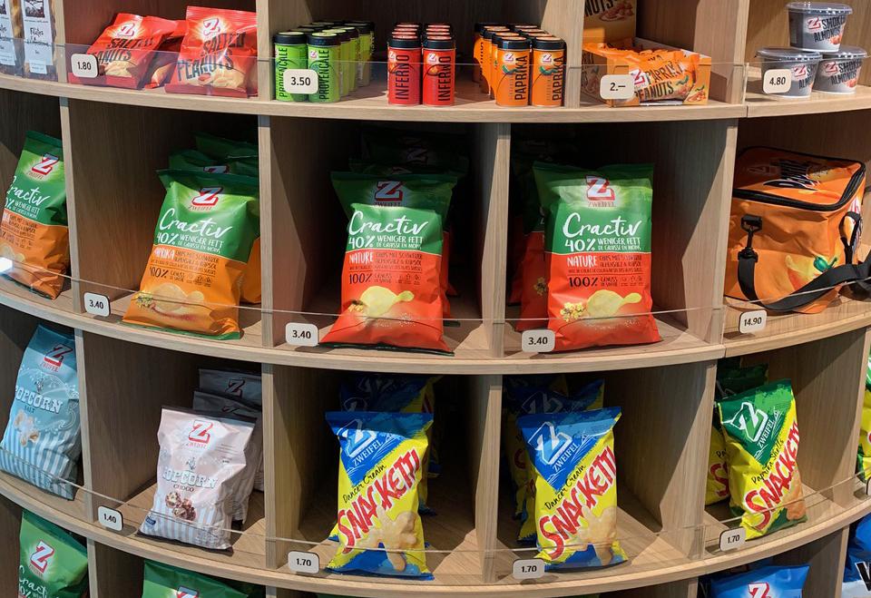 Besichtigung Zweifel Pomy-Chips