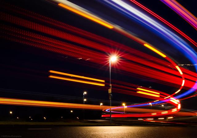 Catching #QBuzz Lights [3] (📷13-01-2020) at the Busstation Kardinge #NightPhotographyByColors by DillenvanderMolen #MrOfColorsPhotography
