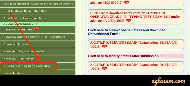 UPPSC AE Answer Key 2020