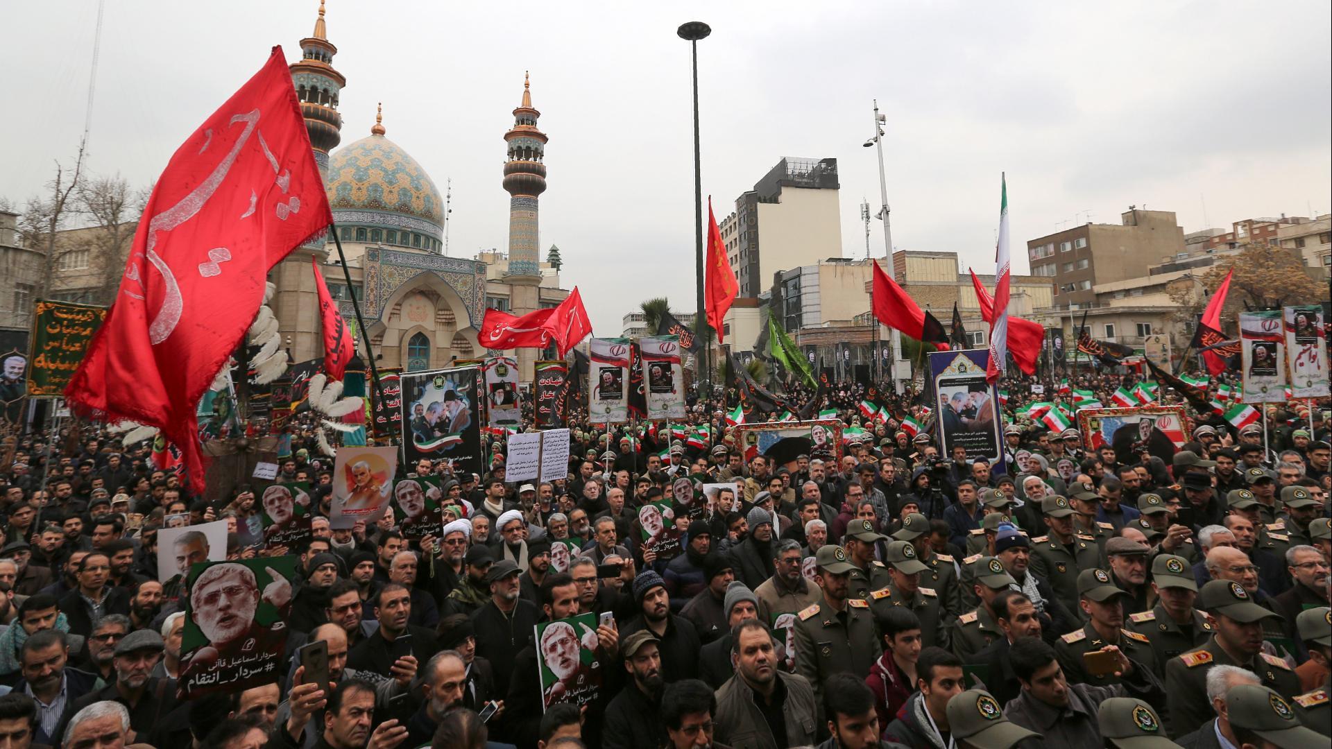 伊朗首都德黑蘭爆發反美示威。(圖片來源:Getty)