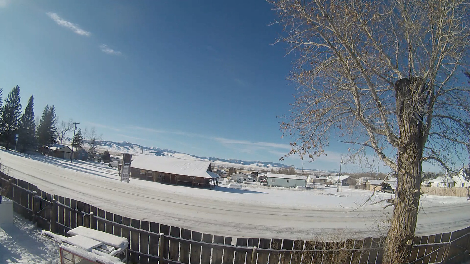 Webcam facing west towards the Barnwood Cabin in White Sulphur Springs, Montana with the Big Belt Mountains in the background.