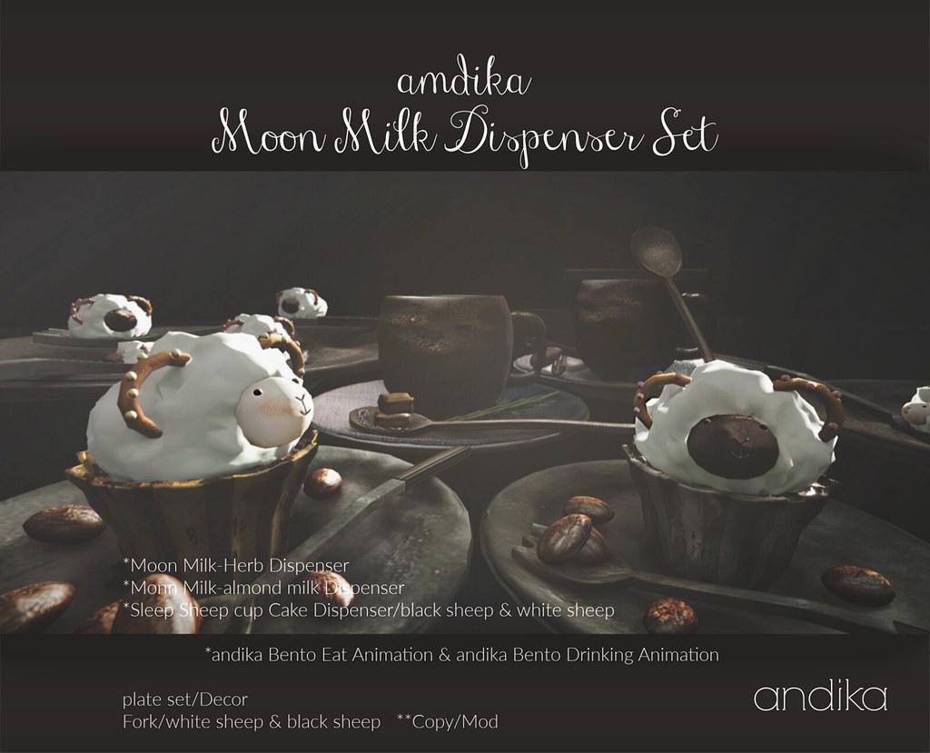 andika Moon Milk Dispenser Set:Group Gift
