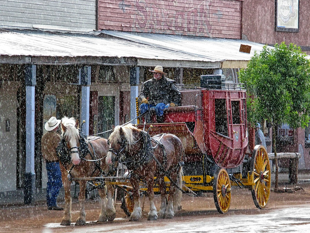 Downpour at the saloon