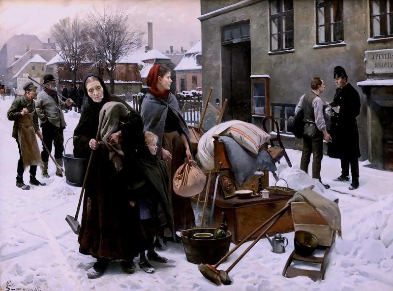 IMG_3536B Erik Henningsen 1855-1930 Danish Locataires expulsés Evicted tenants 1892 Copenhagen Statens Museum for Kunst