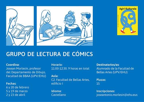cartel grupo lectura comic 2020