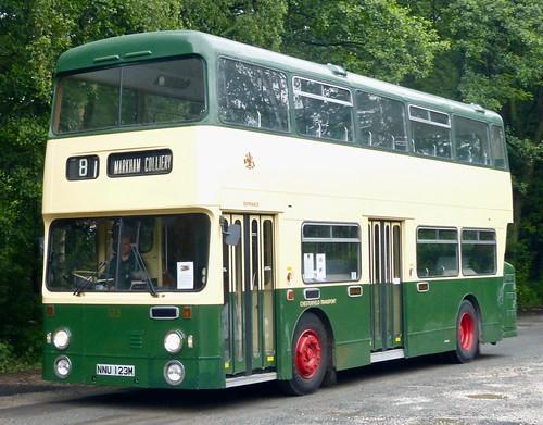 NNU 123M 'Chesterfield Transport' No. 123. Daimler Fleetline / Roe on Dennis Basford's railsroadsrunways.blogspot.co.uk'