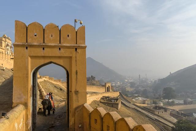 Palacio fortificado Amber, Jaipur.