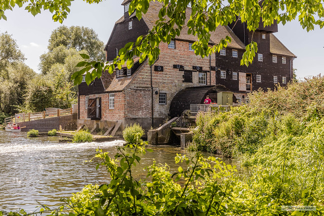 Houghton Mill, on the River Great Ouse, Cambridgeshire.