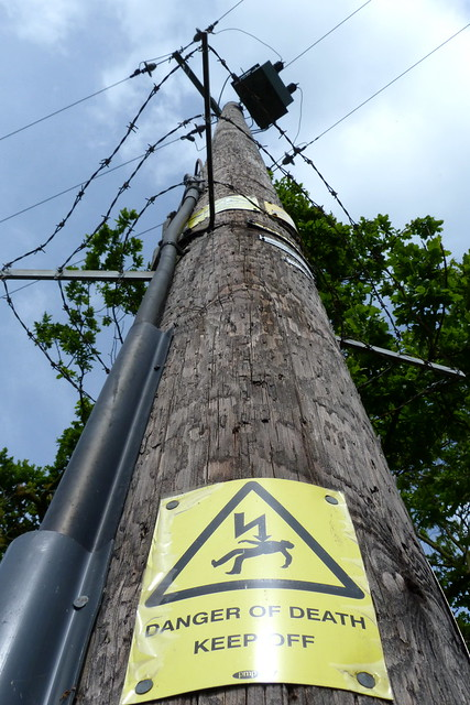 Danger sign on Electricity Pole (1)