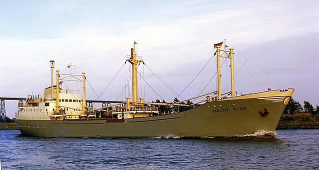 MV 'Baltic Star', Kiel Canal, Rendsburg  1962