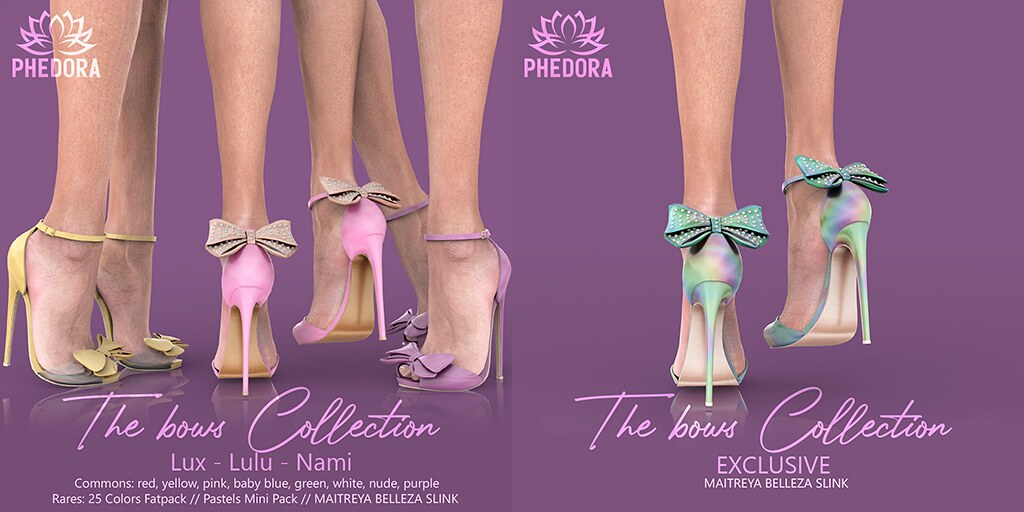 "Phedora for The Epiphany ~ ""The Bows Collection"" Heels Gacha♥"