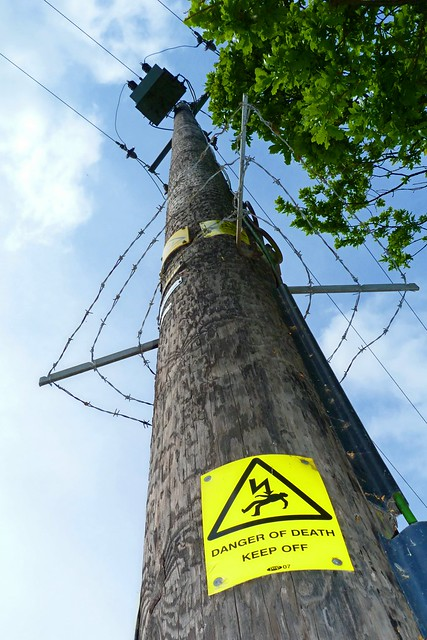 Danger sign on Electricity Pole (2)