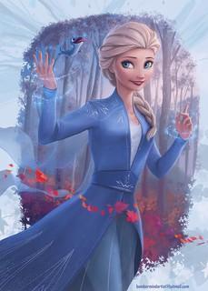 Digital Art Cartoon Queen Elsa