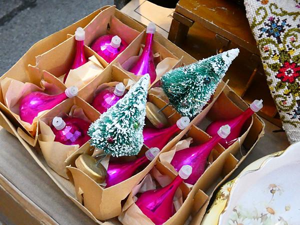 boules de Noël vintage