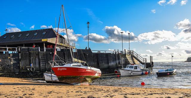 Viking Bay on sunny January afternoon