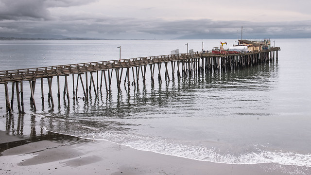 Capitola Pier on a rainy day