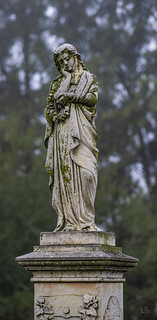 Tall 100+ Year Old Statue - Sacramento Historic City Cemetery (SHCC)