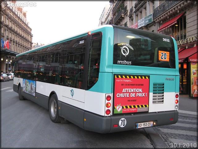 Irisbus Citélis Line – RATP (Régie Autonome des Transports Parisiens) / STIF (Syndicat des Transports d'Île-de-France) n°3632