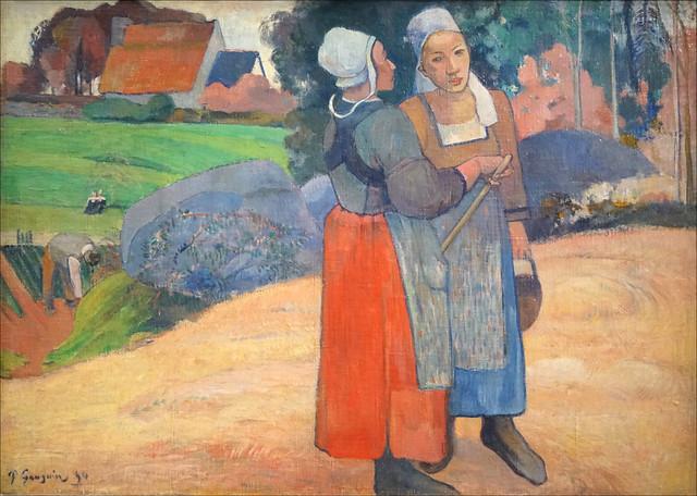 Paysannes bretonnes de Paul Gauguin (Musée d'Orsay, Paris)