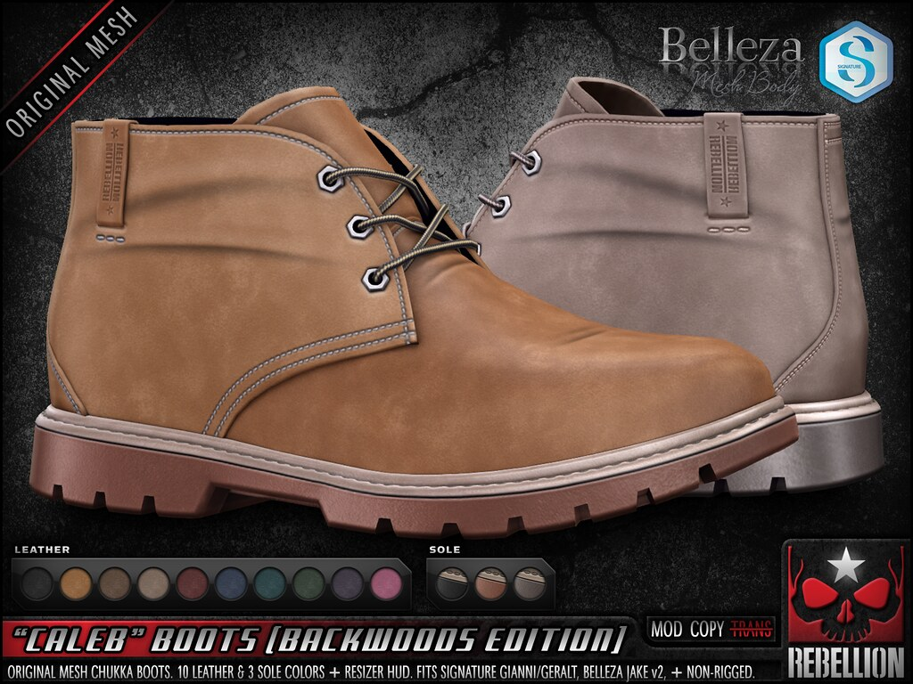 "= REBELLION = ""CALEB"" BOOTS (BACKWOODS EDITION)"