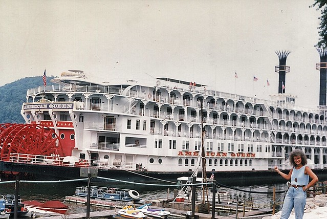 American Queen  - Wellsburg  Ohio - Wharf -  Memories of the Past