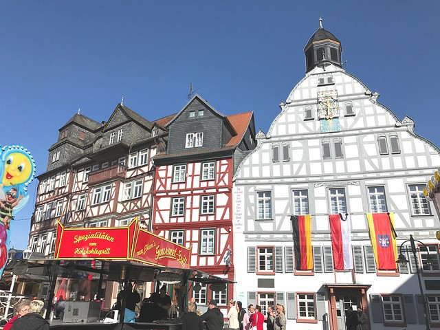 Old City Butzbach in Germany during the Spring Festival Faselmarkt 2017