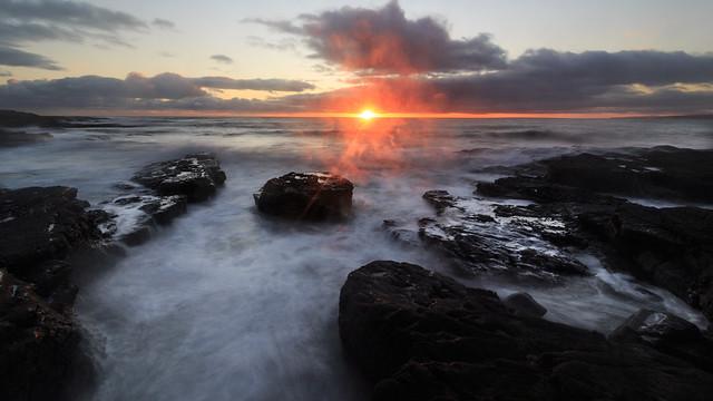 Sundown on Mild Winter Evening