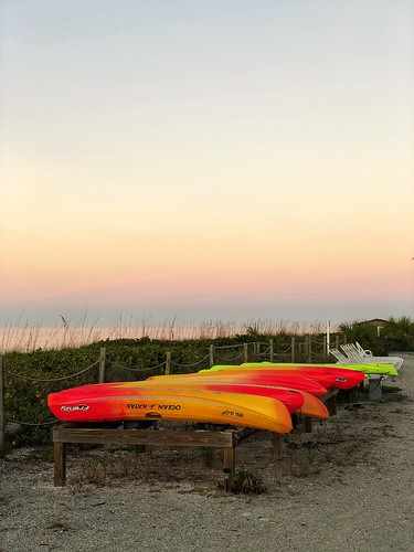 kayak sunrise beach