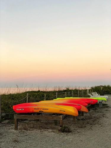 kayak sunrise beach