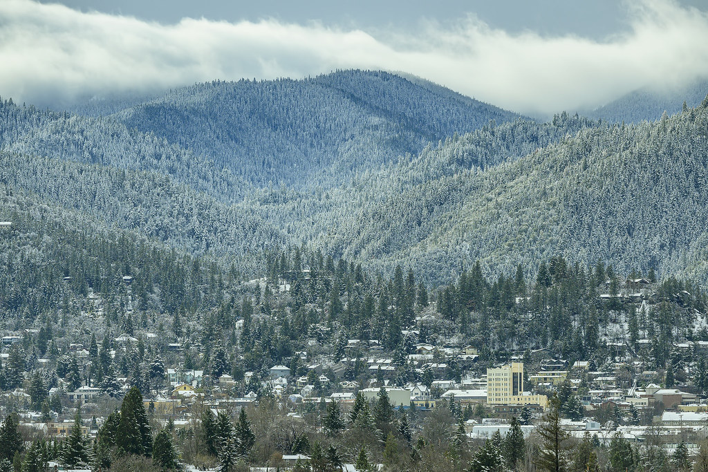 Ashland covered in snow
