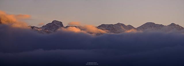 Last light at Estergebirge