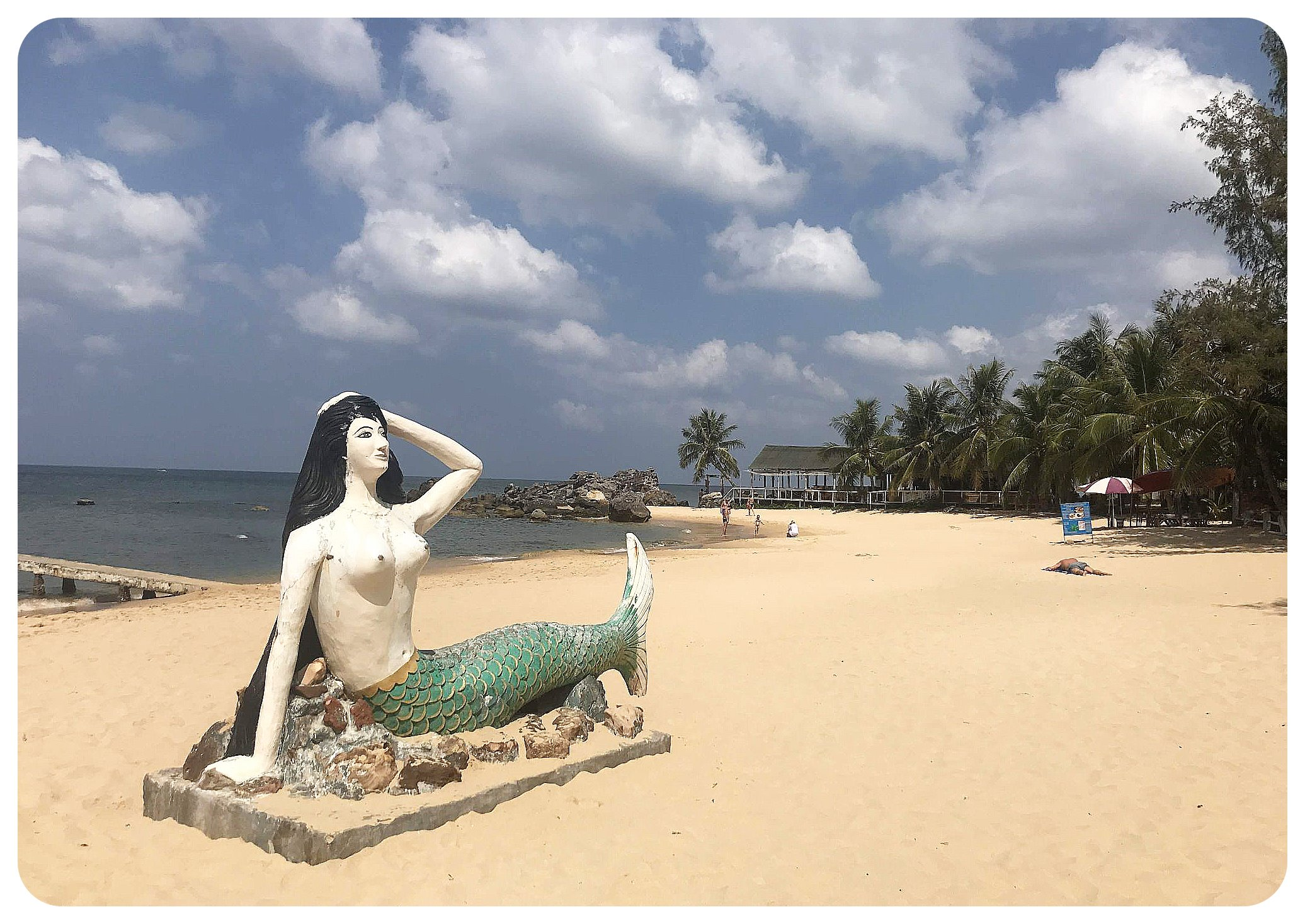 phu quoc vietnam beach mermaid statue